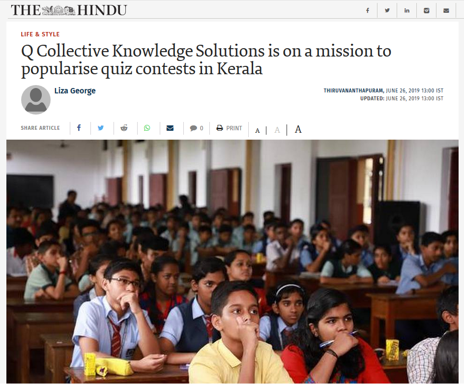Coverage about Q Collective, The Hindu