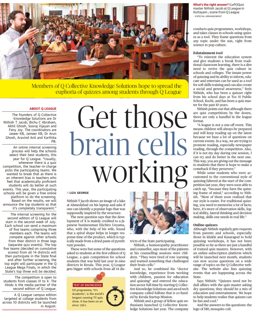 Article on Q Collective, The Hindu