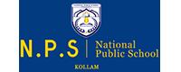 National Public School Kollam white