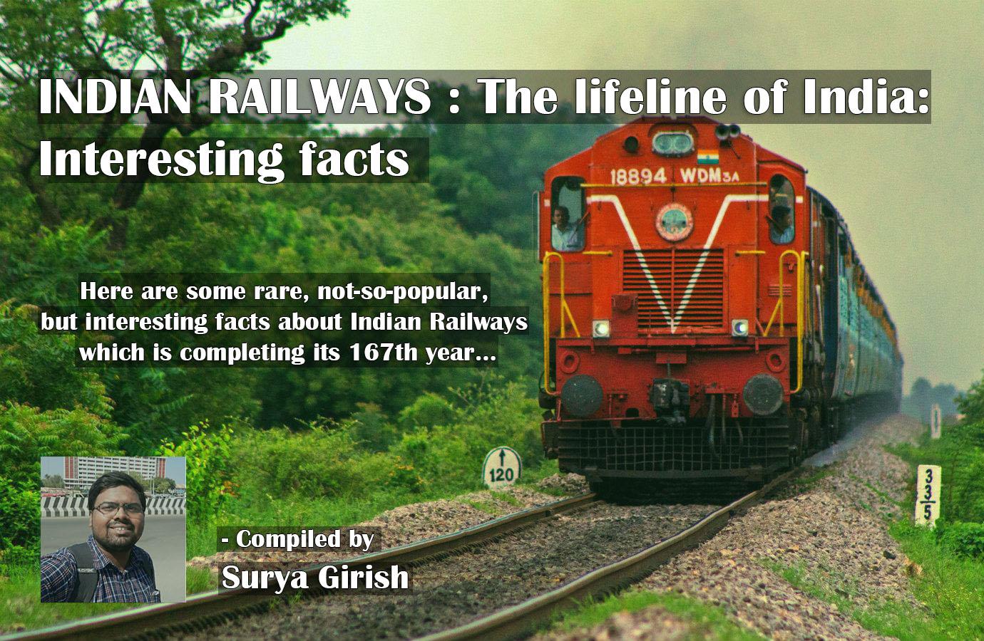 RARE FACTS ON INDIAN RAILWAYS